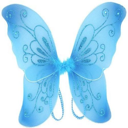 Cutie Collection Sparkling Fairy Costume Wings Select Costume, Blue - Blue Fairy Wings Costume