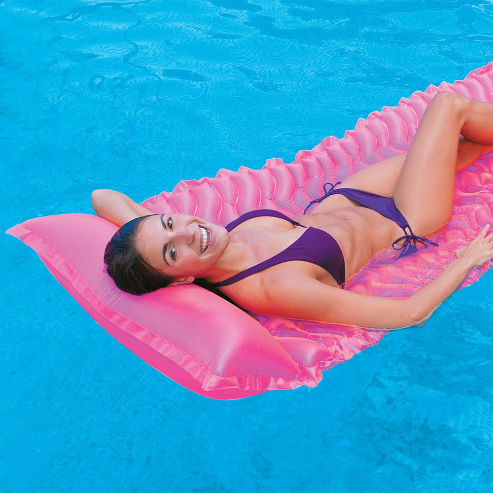 Intex Tote 'N Float Wave Mat Floating Pool Lounger with Headrest (3 Pack) - image 1 of 5