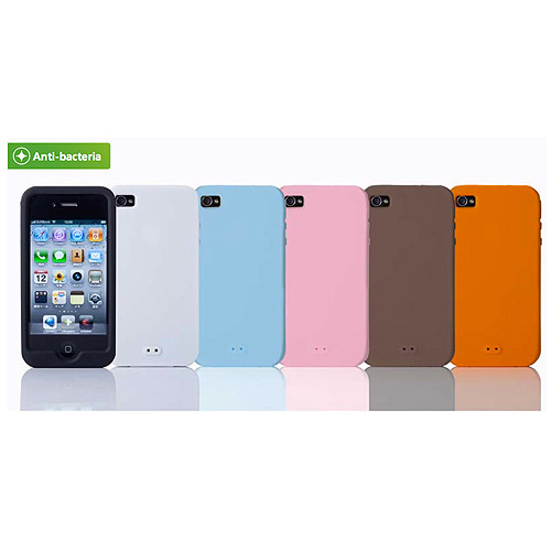 Simplism Silicone Case Set - Protective cover for cell phone - silicone - white - for Apple iPhone 5