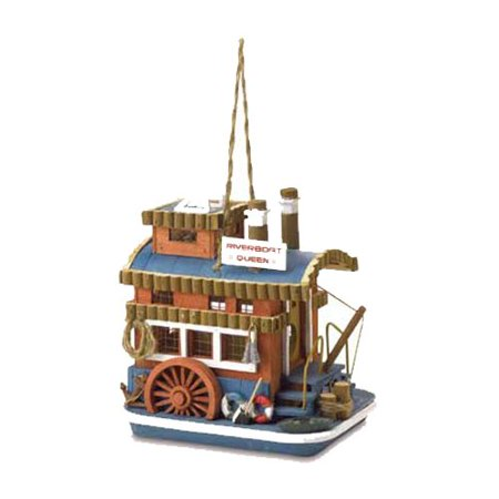 Queen Boat Birdhouse  Nostalgically Fashioned After Old Time Paddleboats By Malibu Creations
