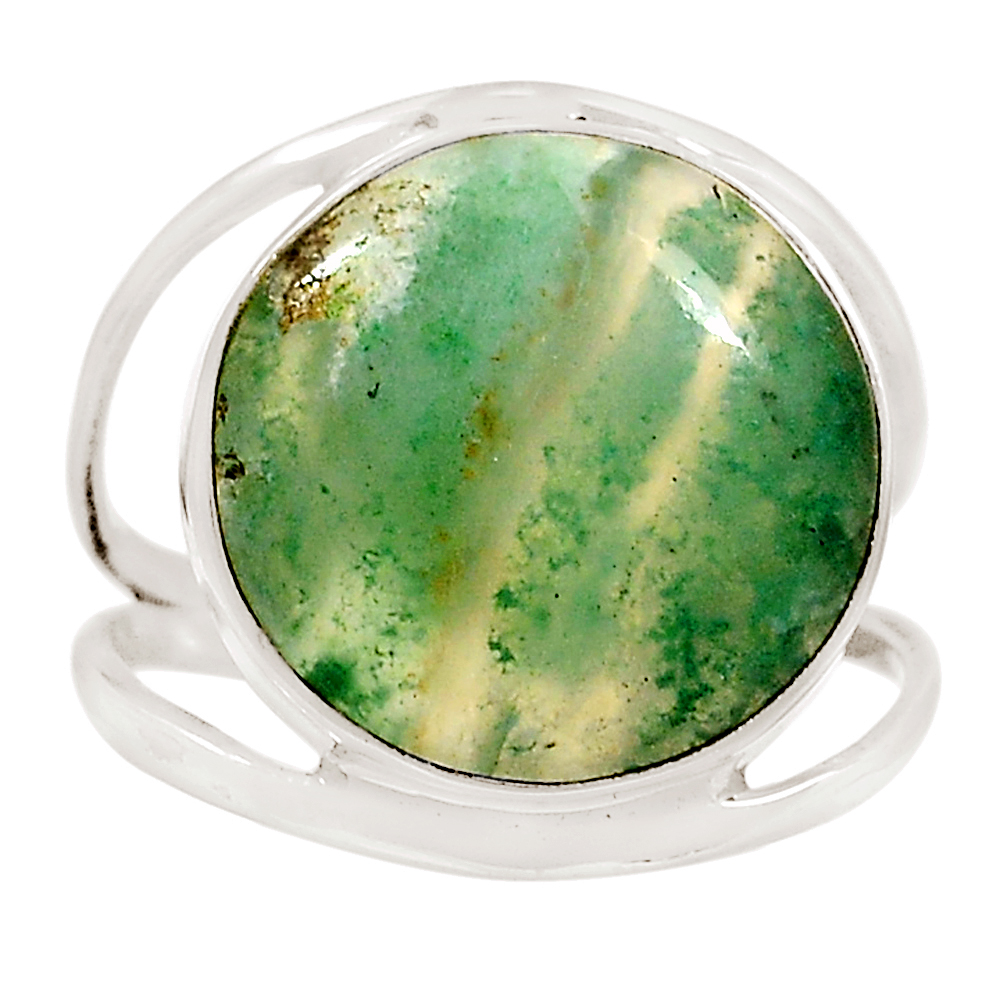 XTREMEGEMS Mtorolite (Emerald Chrysoprase) 925 Sterling Silver Ring Jewelry s.10.5 16190R by