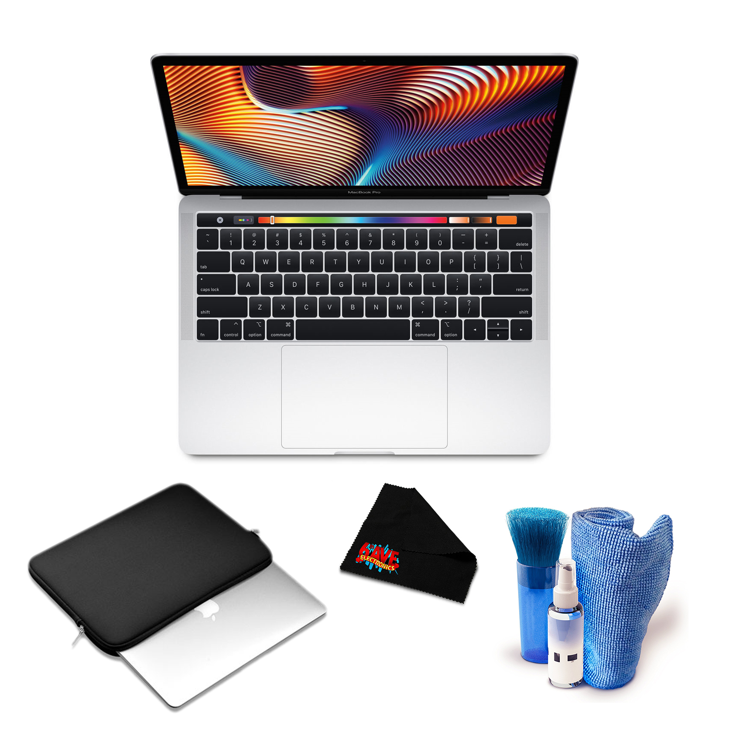 """Apple 13.3"""" MacBook Pro (Mid 2018, Space Gray) with Padded Case and Accessories"""