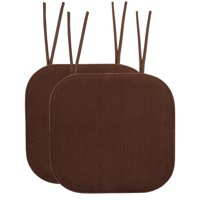 Memory Foam Honeycomb Non-Slip Back Chair Cushion Pad with Ties 2, 4, 6 or 12 Pack