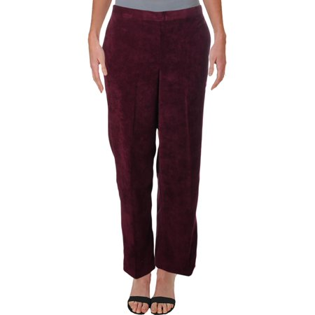Alfred Dunner Womens Petites Corduroy Traditional Fit Casual Pants