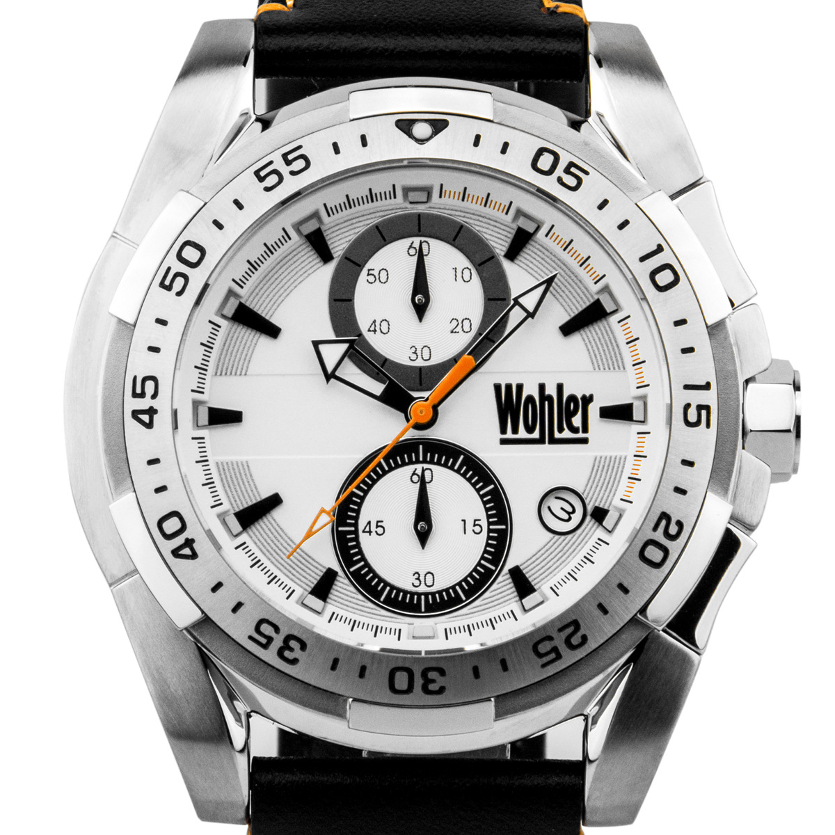 Wohler - Otto Men's sport chronograph, genuine leather
