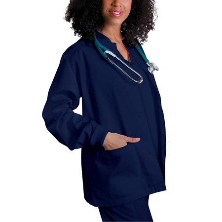 Adar Universal Round Neck Warm-Up Jacket - 602 - Navy - XXS ()