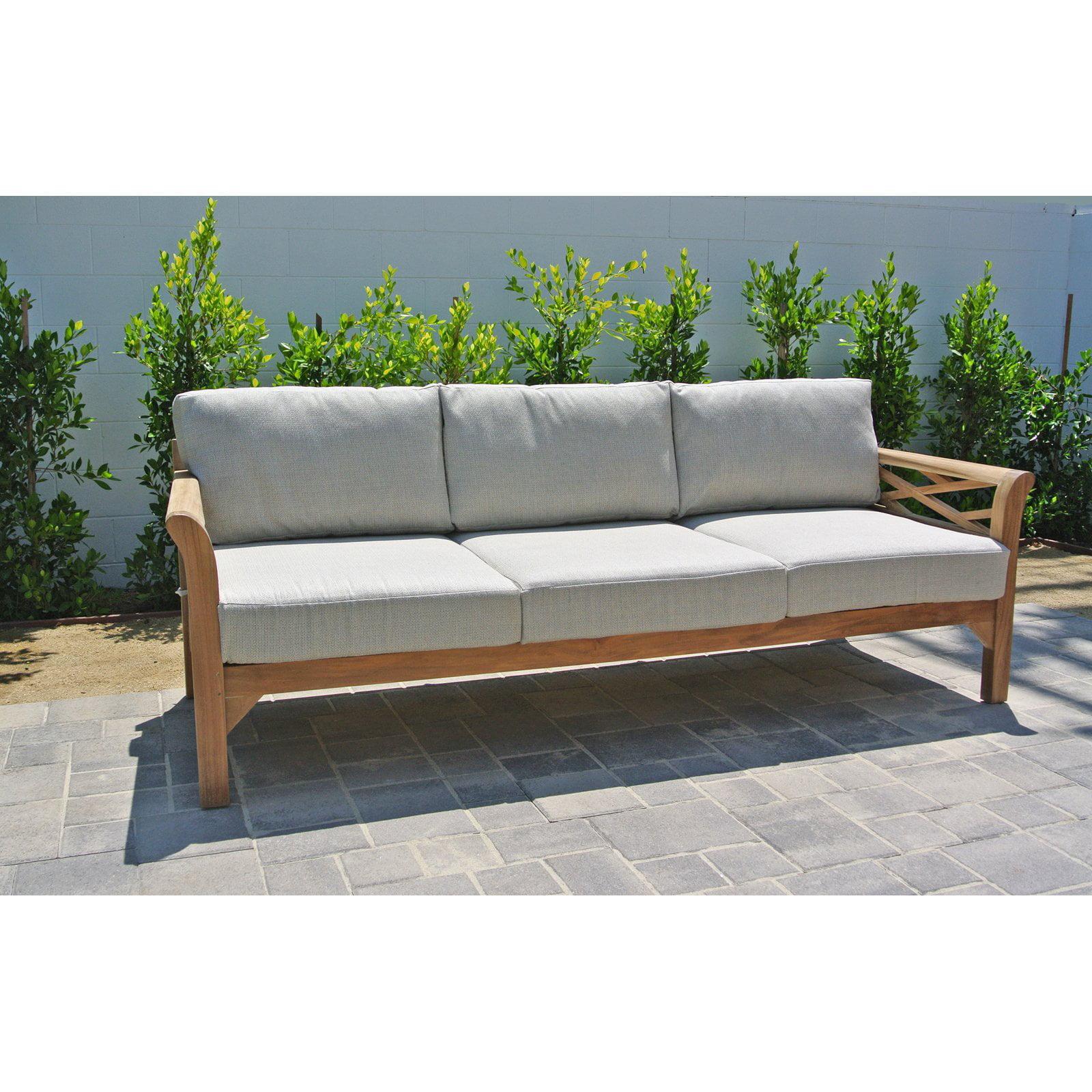 Willow Creek Designs Monterey Teak Sofa with Sunbrella Cushion