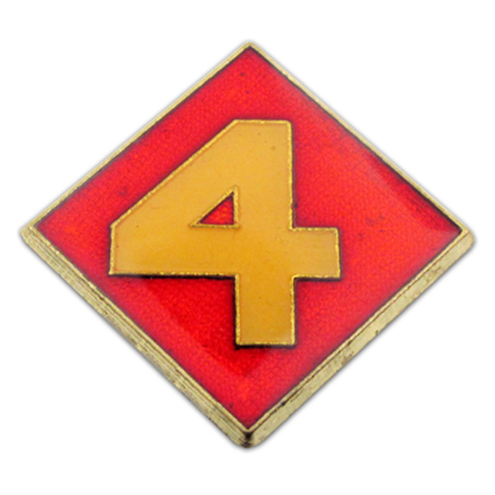U.S. Marine Corps 004th Division Pin - Military Lapel Pin