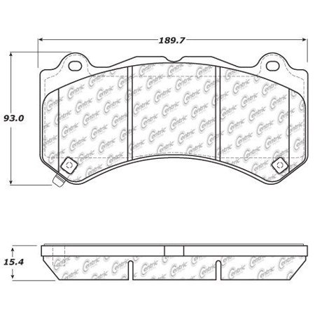 Go-Parts » 2012-2018 Chevrolet Camaro Front Disc Brake Pad
