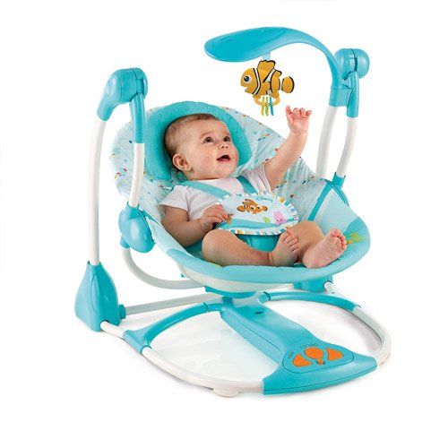 aedda284076 Disney Baby Finding Nemo Portable Swing, Fins & Friends