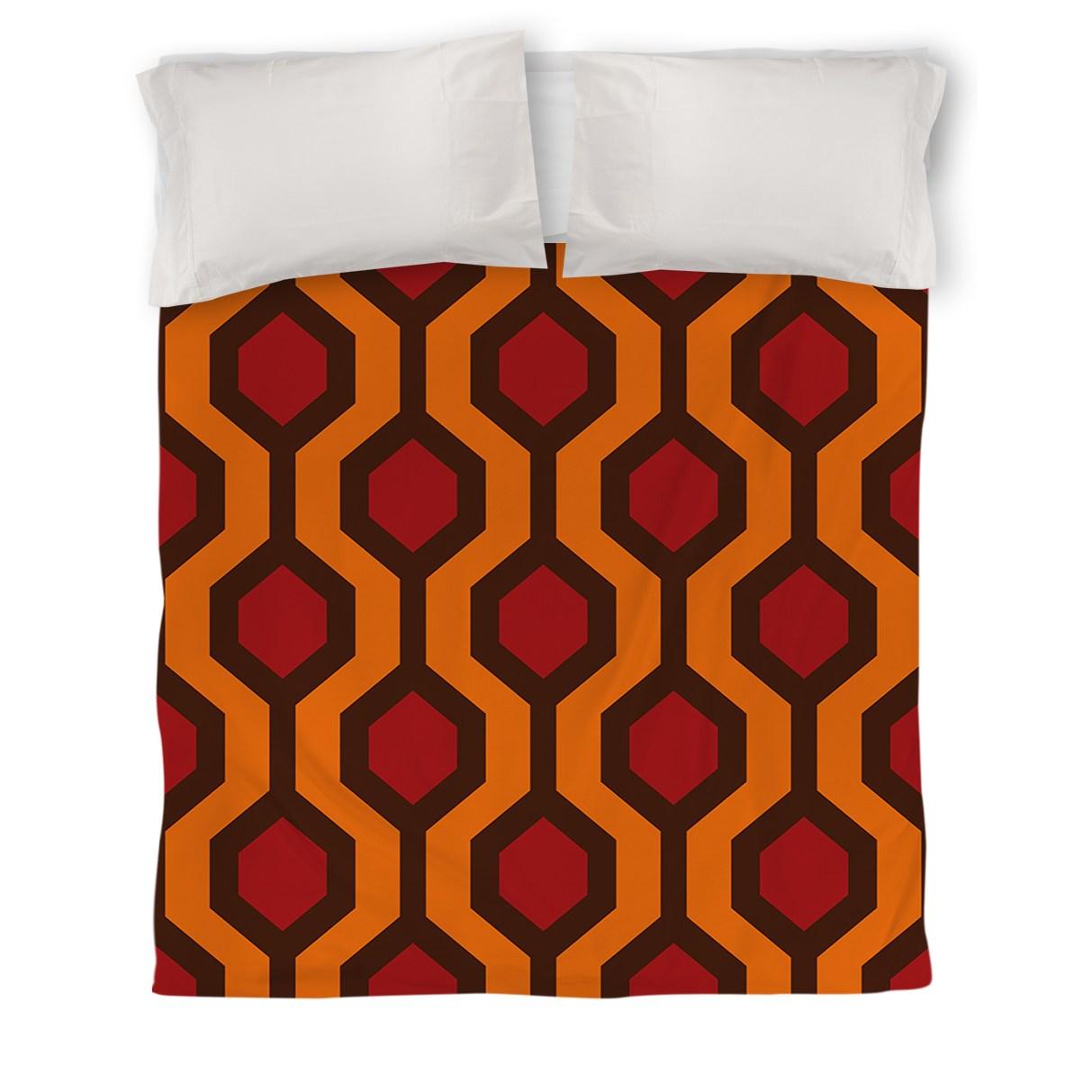IDG Carpet Duvet Cover, Red
