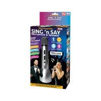 Sing N Say 6504682 As Seen On TV Rechargeable & Wireless Microphone & Speaker