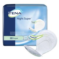"TENA Night Super Unisex Incontinent Pad 27"" L Overnight 62718 24/Pack"