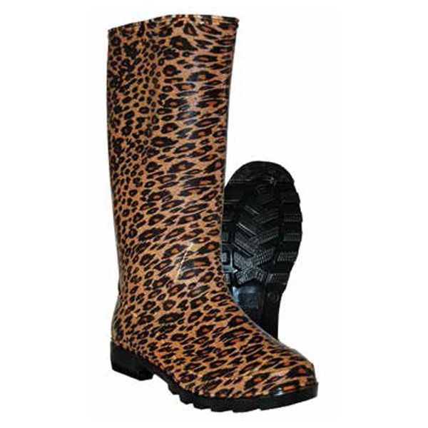 Itasca LEOPARD Womens Waterproof PVC Rain Boots by