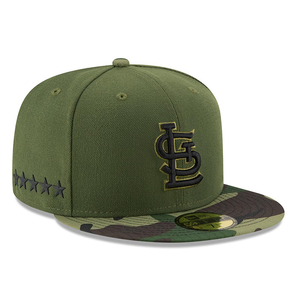 Men's New Era Green St. Louis Cardinals 2017 Memorial Day 59FIFTY Fitted Hat