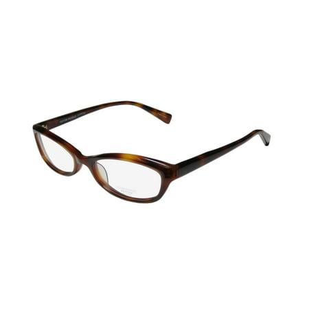 New Oliver Peoples Marceau Womens/Ladies Cat Eye Full-Rim Tortoise Stunning Sleek Cat Eye Frame Demo Lenses 51-18-138