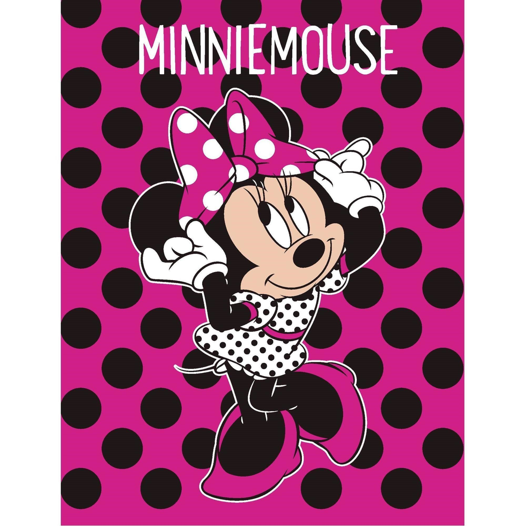 Disney Minnie Dots Are The New Black Throw