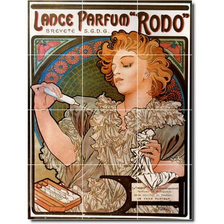 Ceramic Tile Mural Alphonse Mucha Poster Art Kitchen Tile Mural 21 18