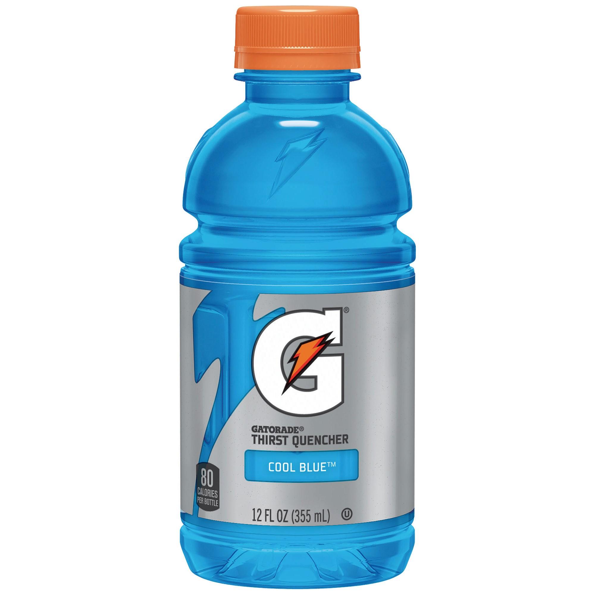 Gatorade Thirst Quencher Sports Drink, Cool Blue, 12 Fl Oz, 12 Ct