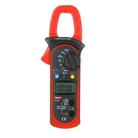 UNI-T UT203 400A AC/DC Auto Range Digital Clamp Multimeter w/Voltage Resistance Frequency (Craftsman 400a Ac Clamp Meter 82372 Manual)