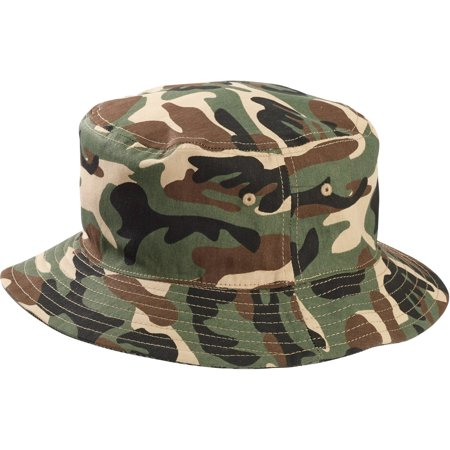 b1c72ba03e9 Men s Camo and American Flag Bucket Hat - Walmart.com