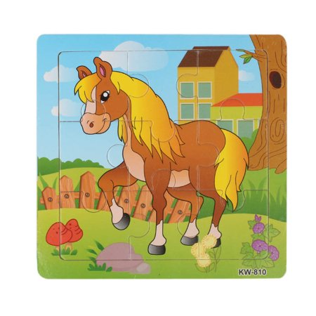 Wooden Horse Jigsaw Toys For Kids Education And Learning Puzzles Toys - Jigsaw Puzzles For Kids