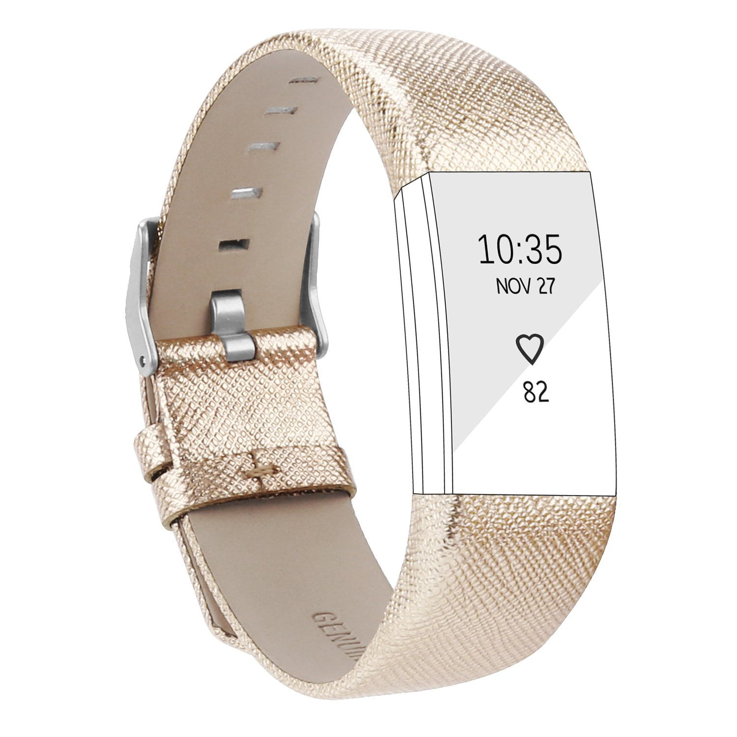 AdePoy Bands for Fitbit Charge 2 Replacement Leather Sport Strap for Charge 2 Wristband by AdePoy