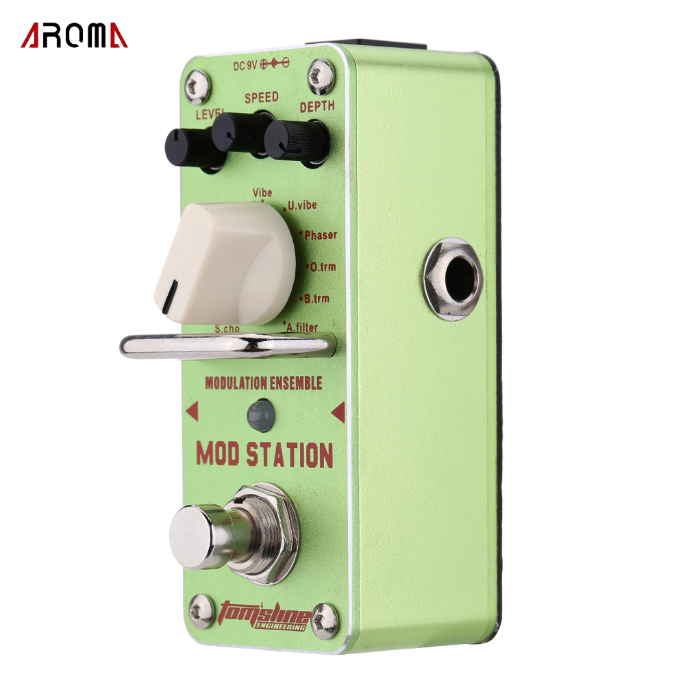 AROMA AMS-3 Mod Station Modulation Ensemble Electric Guitar Effect Pedal Mini Single Effect with True Bypass