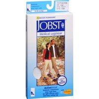 Jobst Activewear Knee High Medical Compression Socks - 15-20 mmHg, Black