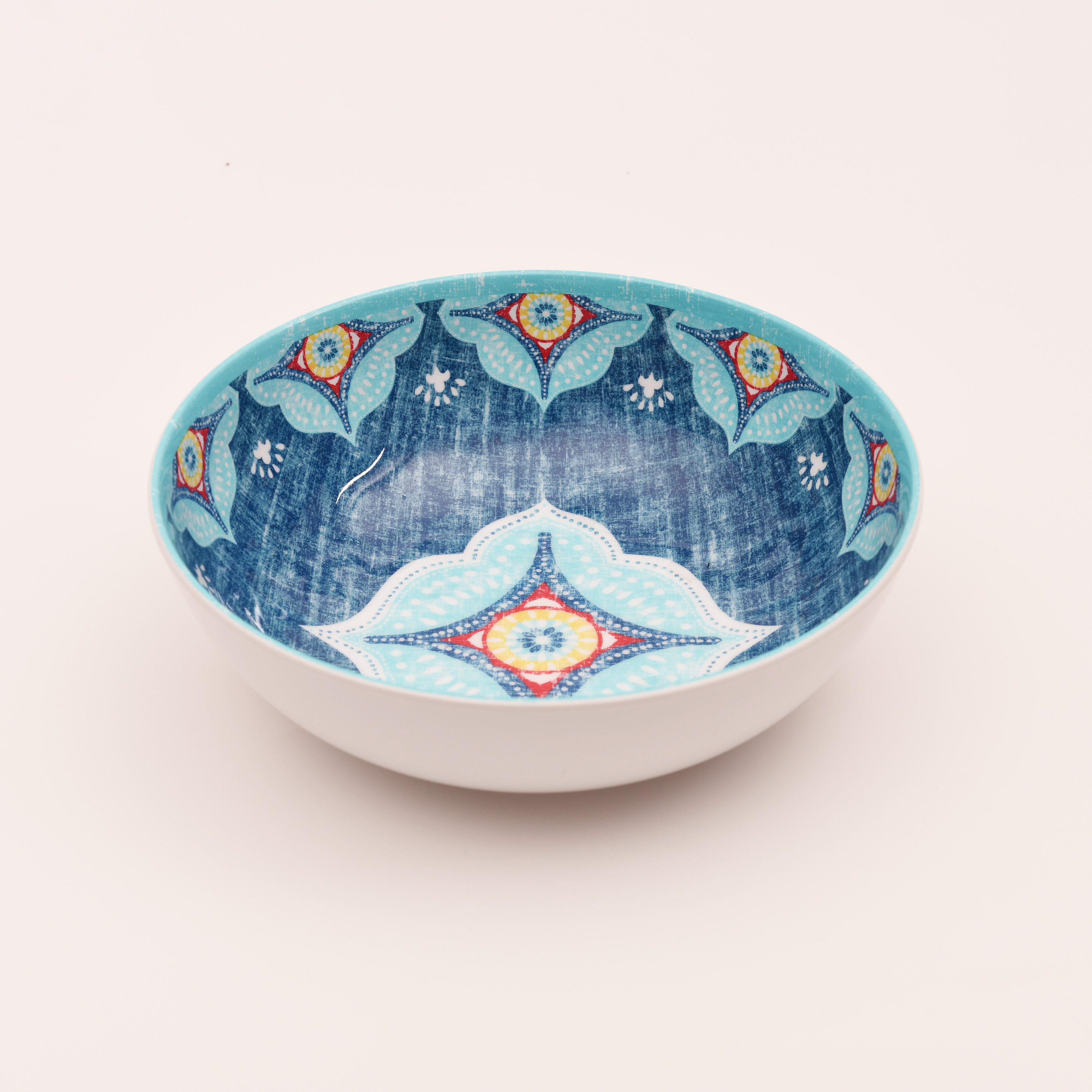 Better Homes and Gardens Blume Quatrefoil Cereal Bowl, Blue