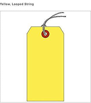 "SHIPPING TAG, HVY. WT., YELLOW, SZ #8 (3-1/8"" X 6-1/4"") BOX OF 1000, LOOPED STRING"