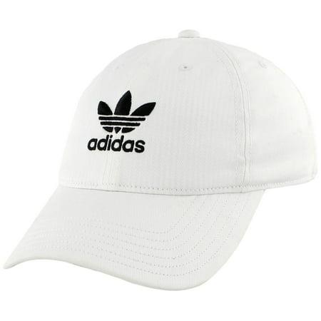 adidas Originals Women s Relaxed Strapback Cap (White ... ad8659e5efb