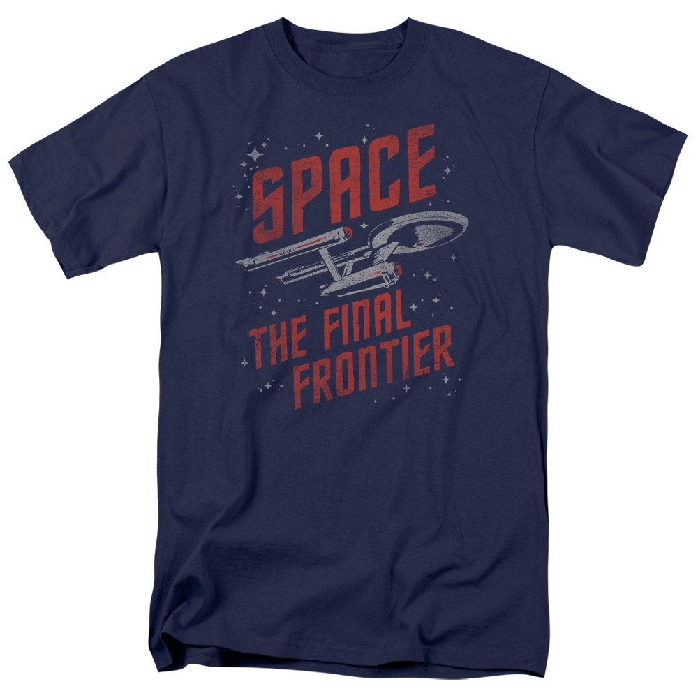 STAR TREK/SPACE TRAVEL-S/S ADULT 18/1-NAVY-MD
