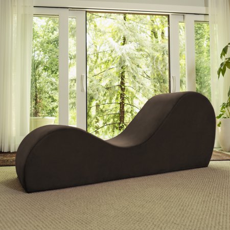 Avana Yoga Chaise Lounge Chair, Brown (Chaise Lounge Bedroom Brown)