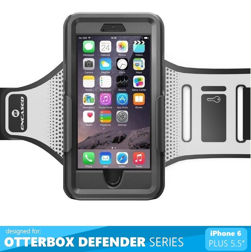 """Armband for Otterbox Defender Series - iPhone 6 Plus 5.5"""" [case not included] (By Encased)"""