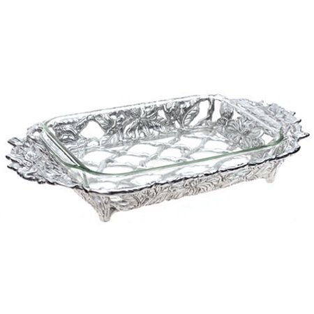 Arthur Court Magnolia Casserole with 3-Quart Pyrex Dish