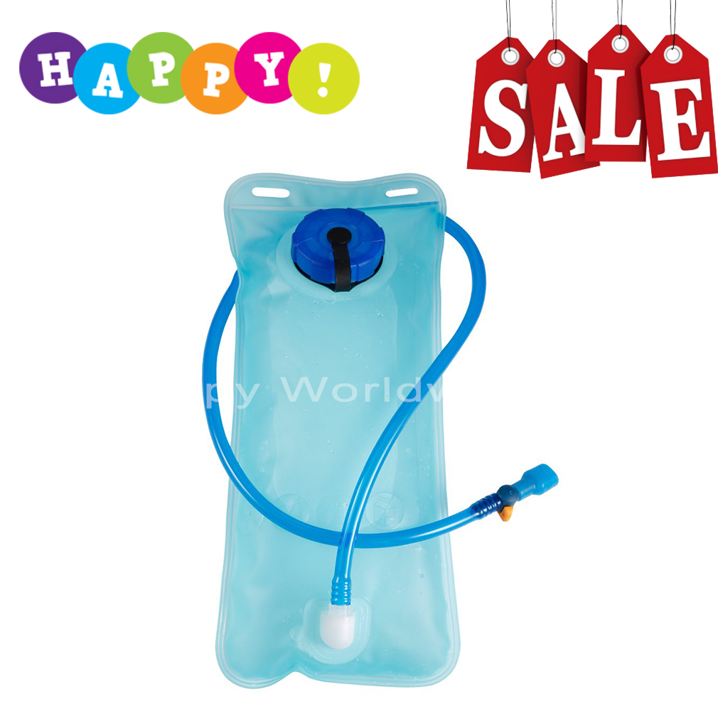 2L Bicycle Bike Cycling Mouth Water Bladder Bag Hydration Camping Sports Blue