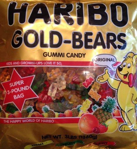 4 PACKS : Haribo ORIGINAL Gold-Bears GUMMI CANDY 3lb