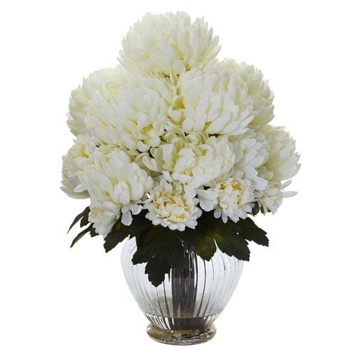 Charlton Home Artificial Mum Centerpiece in Vase