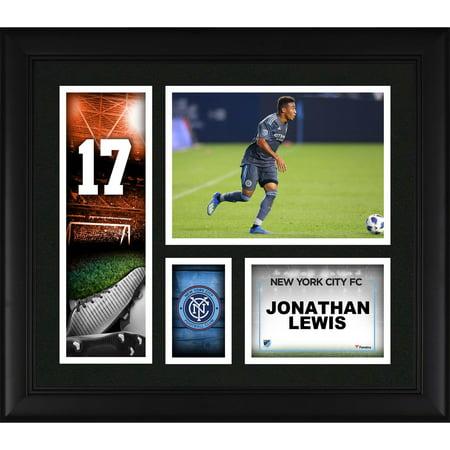 Jonathan Lewis New York City FC Framed 15'' x 17'' Player