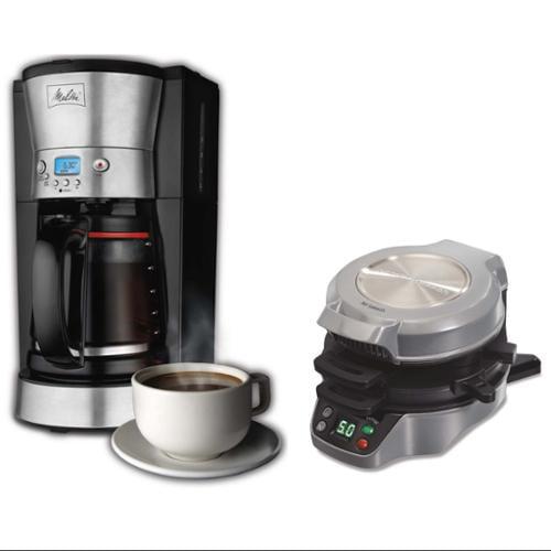 Melitta 46893 LCD 12-Cup Coffee Maker, with 25495 Breakfast Burrito Maker Bundle