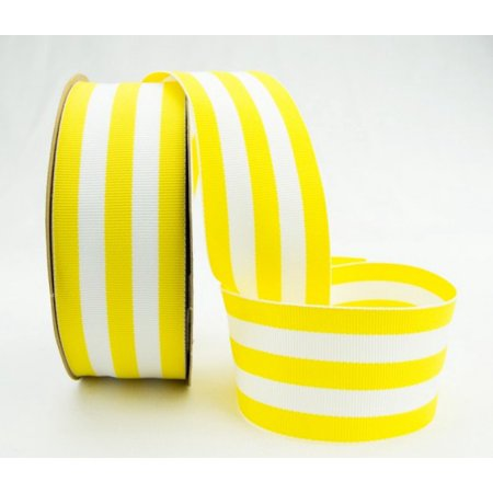 Ribbon Bazaar Grosgrain Mono Stripes 3/8 inch Yellow 20 yards 100% Polyester Ribbon - Yellow Ribbons