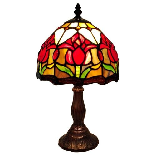 Amora Lighting Tiffany Style Tulips Table Lamp, 14-Inches Tall by Amora Lighting