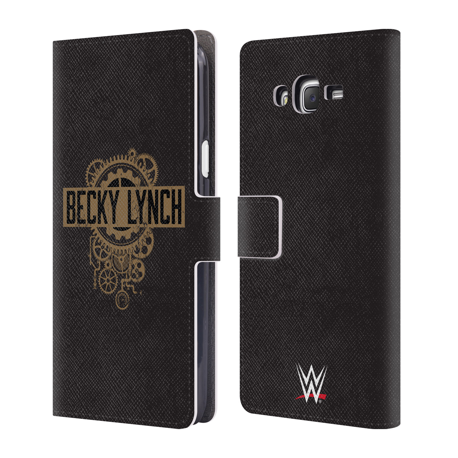 OFFICIAL WWE BECKY LYNCH LEATHER BOOK WALLET CASE COVER FOR SAMSUNG PHONES 3