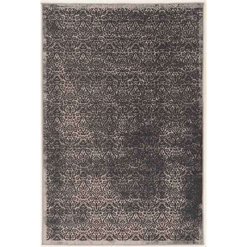 Linon Vintage 9' x 12' Illusion Power Loomed Rug in Gray