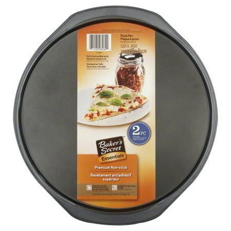 - Baker's Secret Essentials 2-Piece Pizza Pan Value Pack