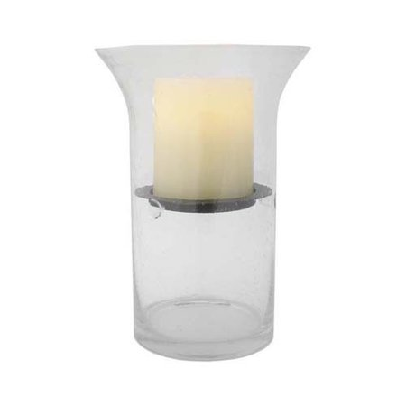 Flipo Group Limited Pacific Accents Wilshire Fillable Glass Hurricane