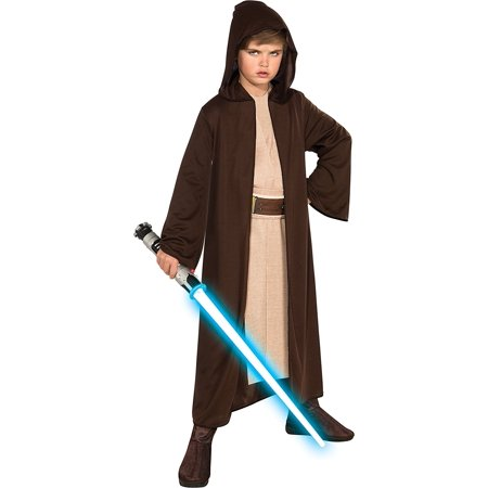 Star Wars Child's Hooded Jedi Robe, Large, Jedi Robe, costume and lightsaber sold separately By Rubie's - Costume Lightsaber