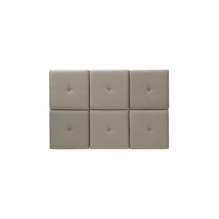 Foremost Tessa Taupe Fabric Tiled Headboard with Tuft, Multiple Sizes - Twin ()