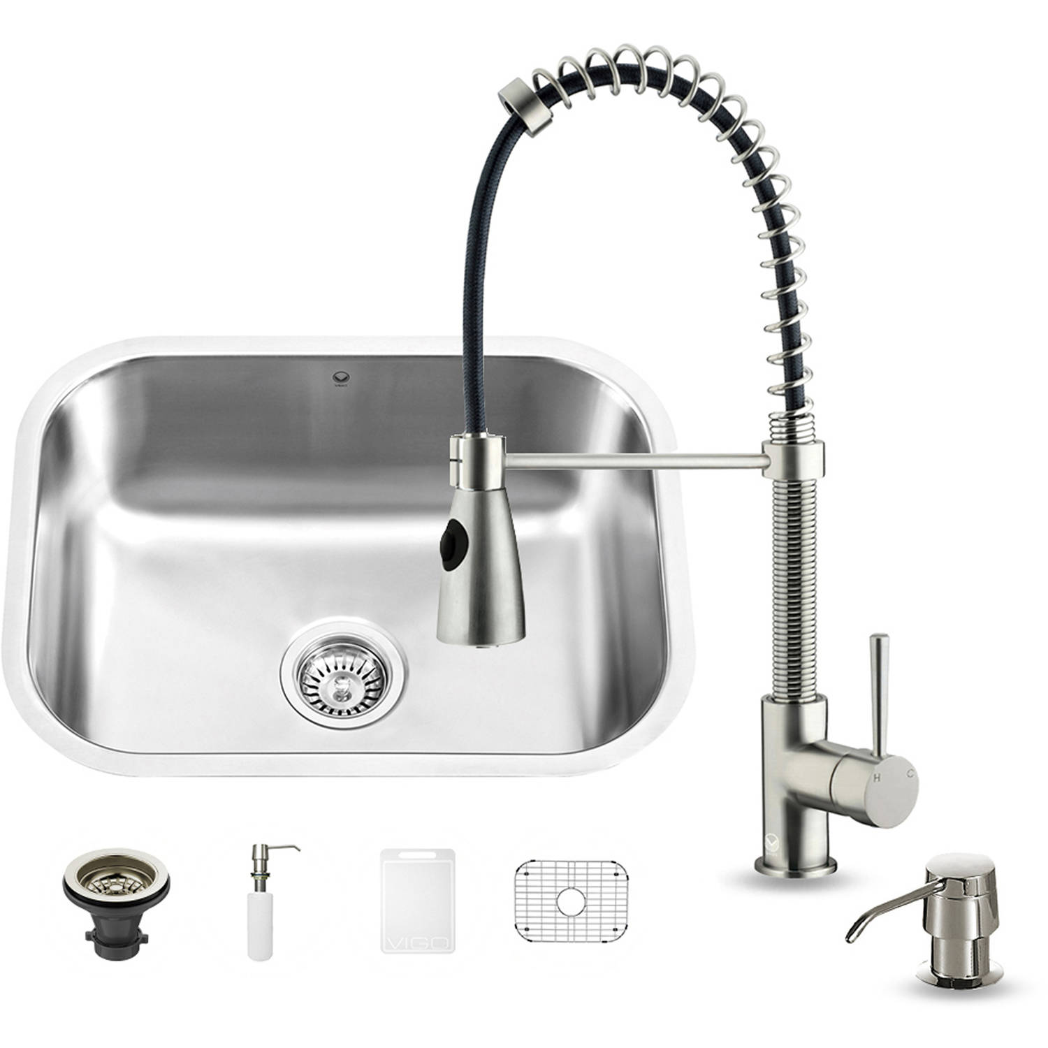 "Vigo All-in-One 23"" Undermount Stainless Steel Kitchen Sink and Faucet Set by Generic"